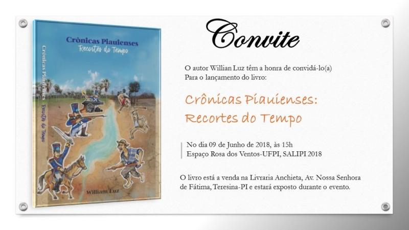 """Resultado de imagem para """"Crônicas Piauienses: Recortes do Tempo"""" do William Luz"""